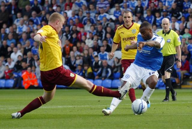 Emile Sinclair (Peterborough United) scores to make it 2-0