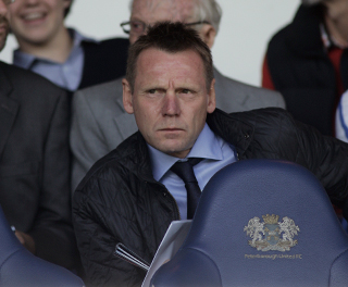 Stuart Pearce at London Road - Posh v Burnley