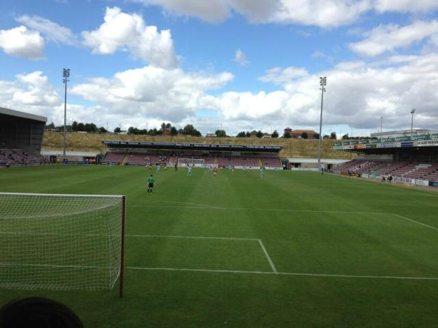 Empty Sixfields Stadium for Coventry Citys first home League match