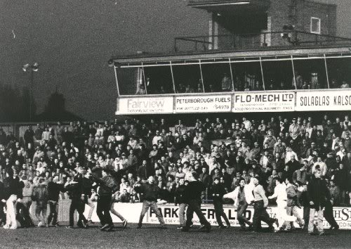 Glebe Road crowd trouble v Cambridge