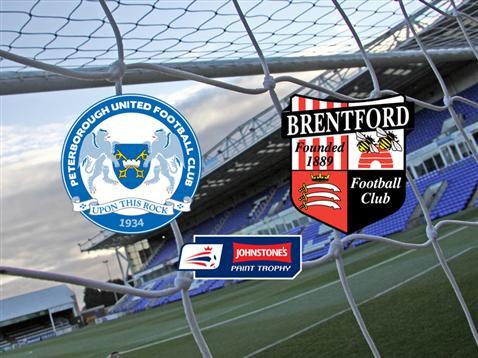 Posh v Brentford - JP Trophy Round 2