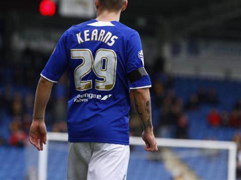 Danny Kearns playing on-loan for Chesterfield