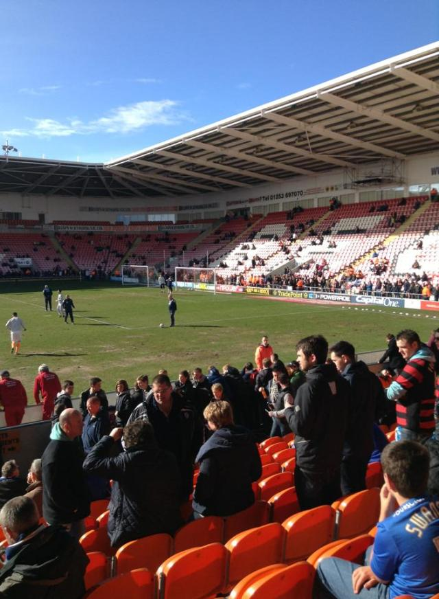 Blackpool warming on up on Bloomfield Road beach