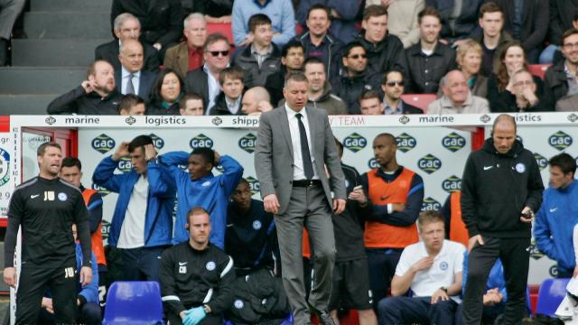 Darren Ferguson dejected v Palace