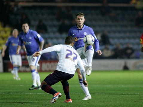 Grant McCann flicks the ball over Adam Henley's head v Blackburn