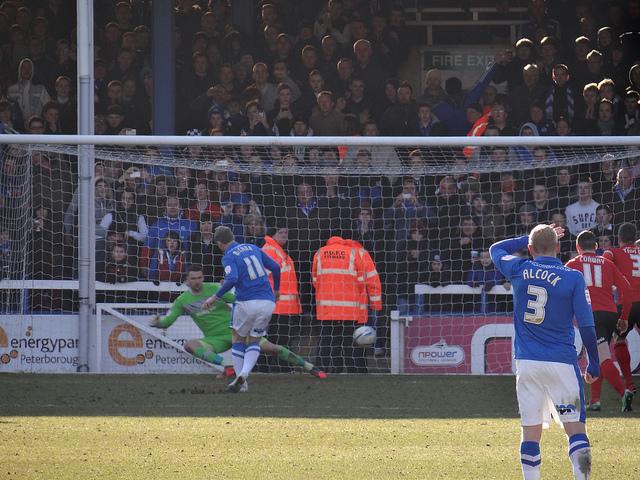 Grant McCann penalty v Cardiff