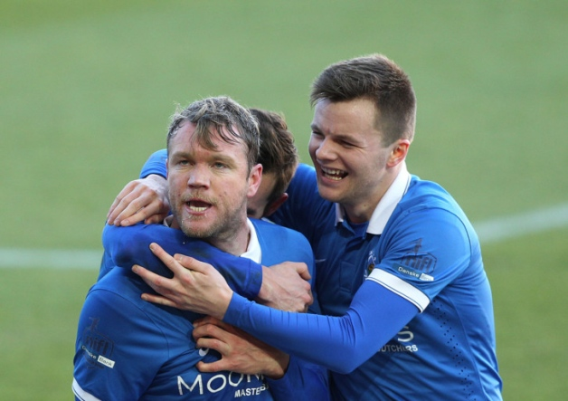 Grant McCann scores on his home debut for Linfield