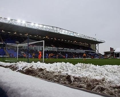 London Road Stadium - Snow
