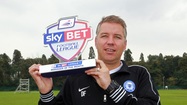 Sky Bet League One 2014-15 August Manager of the Month - Darren Ferguson - Peterborough United