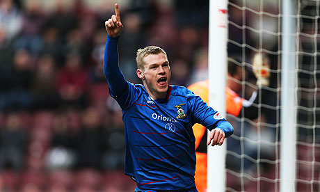 Inverness's Billy McKay scored against Ross County in Scottish Premier League