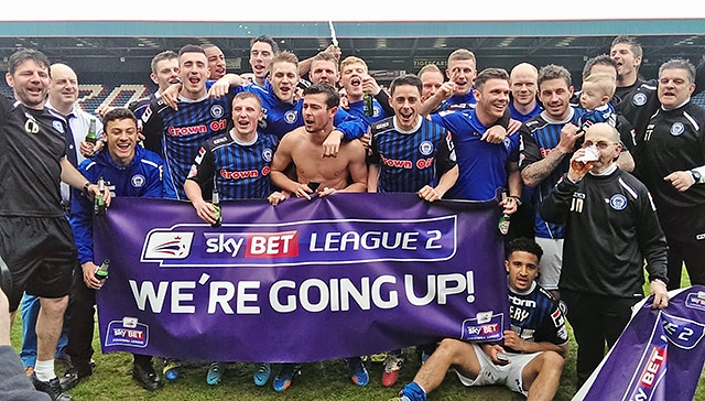 Rochdale promoted from League Two