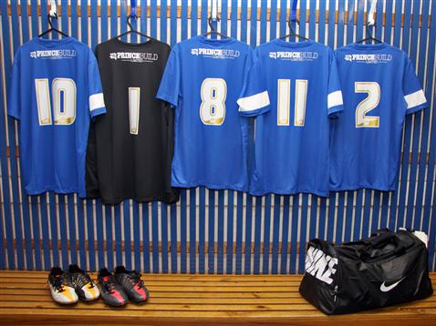 Kit in changing room