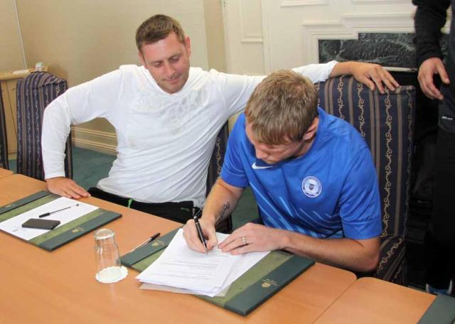 Posh on Tour - Day 2 - DMAC watches Grant McCann sign a new 2 year deal