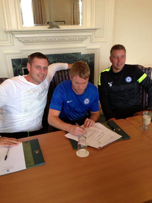 Posh on Tour - Day 2 - Grant McCann signs a new 2 year deal