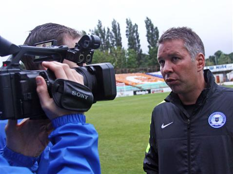 Posh on Tour - Day 2 - Shels v Posh - Darren Ferguson post-game interview