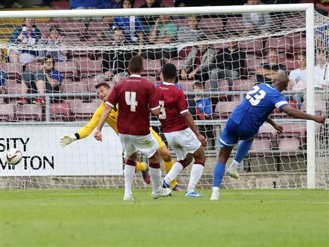 Tyrone Barnett scoring goal against Cobblers sml