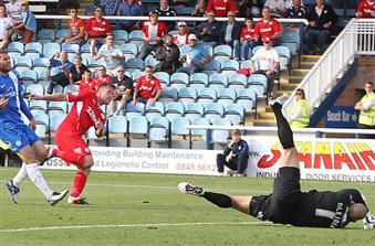 Bobby Olejnik concedes number 2 v Crawley