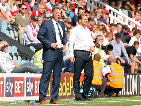 Darren Ferguson and Mark Cooper