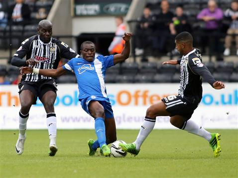 Gaby Zakuani and Notts Countys Joss Labadie