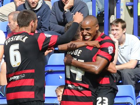 Goal celebrations at Tranmere 2