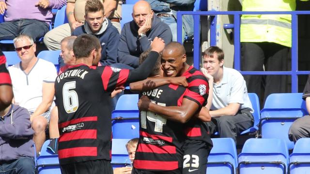 Goal celebrations at Tranmere