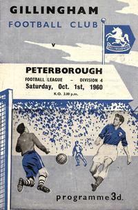 01-10-1960 Gillingham 4-4 Posh - programme