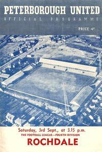 03-09-1960 - Posh 4-3 Rochdale - programme