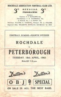 18-04-1961 - Rochdale 2-2 Posh - programme