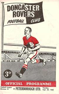 20-09-1960 - Doncaster 1v2 Posh - programme