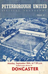 26-09-1960 - Posh v Doncaster Rovers programme