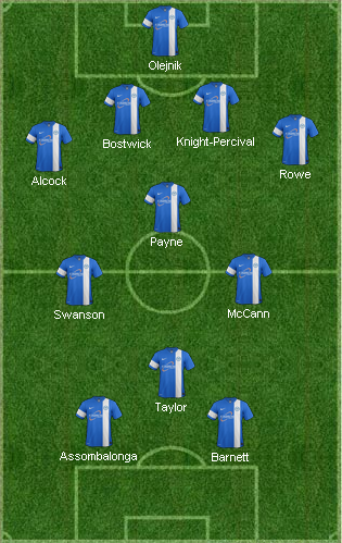 4-3-3 with Paul Taylor but no Zakuani