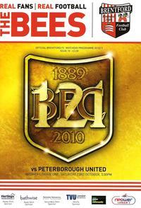 Brentford v Posh 2010-11 programme