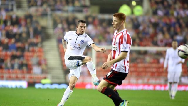 Danny Swanson shot v Sunderland 2