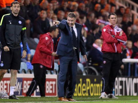 Darren Ferguson Gary Breen and Sheff Utd Caretaker Manager Chris Morgan