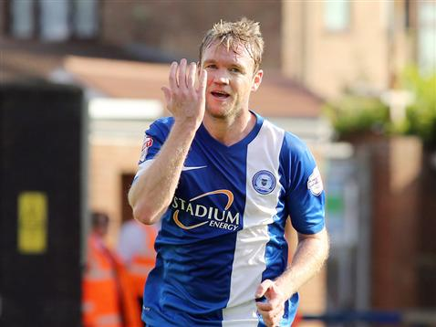 Grant McCann celebrating v Preston