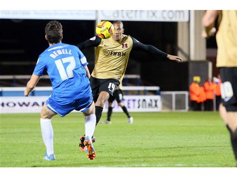 Joe Newell v Shaun Batt of Leyton Orient