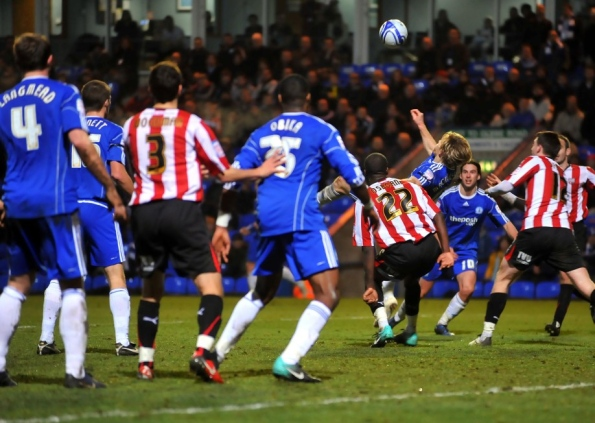 Jonathon Obika for Posh v Brentford