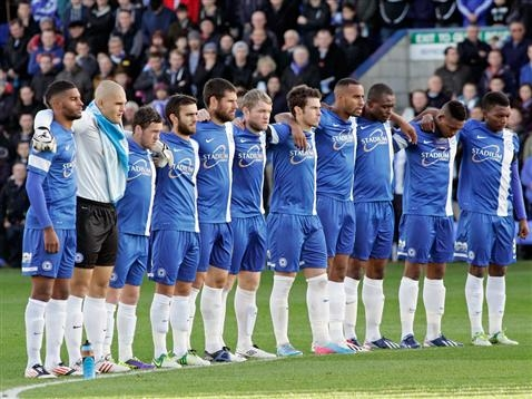 Minutes Silence by Posh players