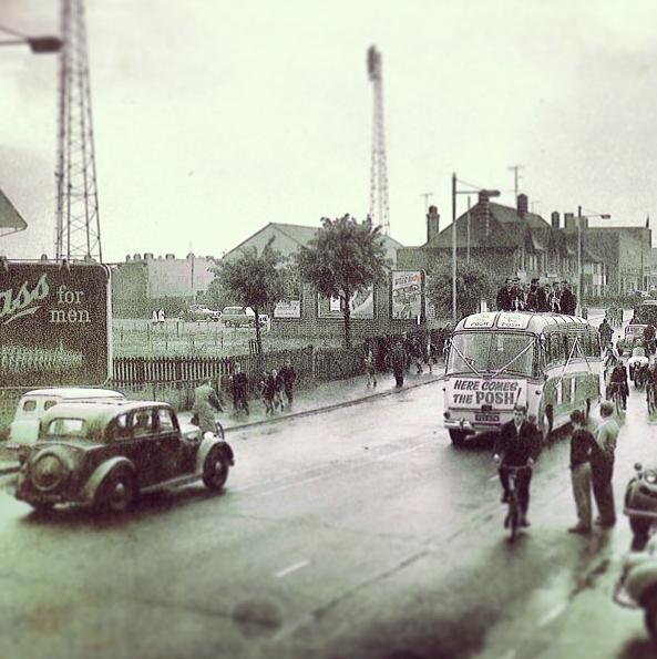 Posh Bus Tour celebrating promotion - 1960-61 season