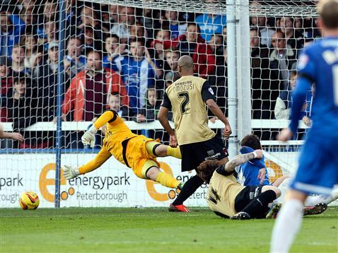 Posh goal v Leyton Orient