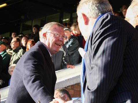 Sir Alex Ferguson and Barry Fry