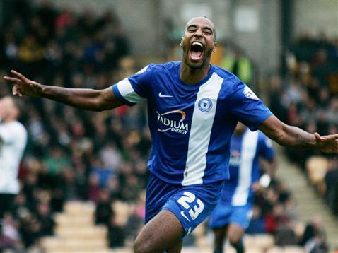 Tyrone Barnett celebrates scoring the winner v Port Vale 2