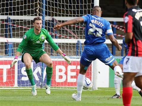 Tyrone Barnett scores v Preston