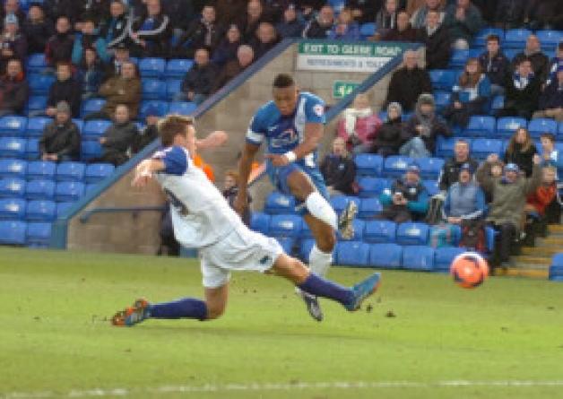 Britt Assombalonga - goal number one v Tranmere
