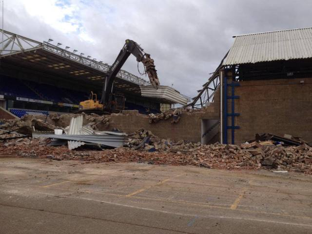 Moys End coming down