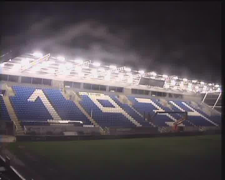 New Moyes End Stand at night