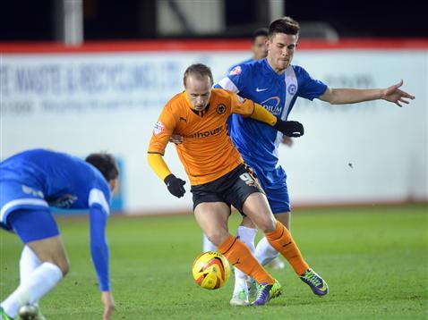 Shaun Brisley v Wolves Leigh Griffiths