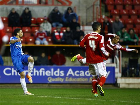 Nat Knight-Percival scores v Swindon
