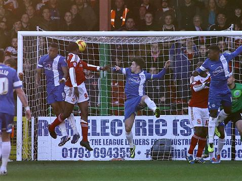 Swindon goal v Posh