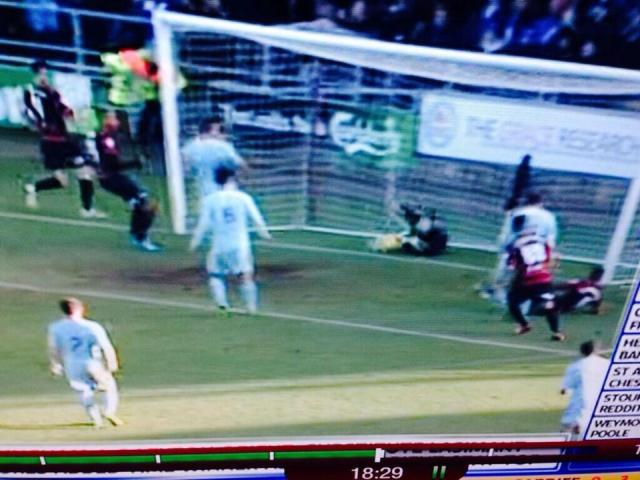 The goal the officials missed